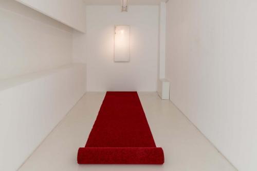 Obod, 2018, refrigerator door, carpet, audio
